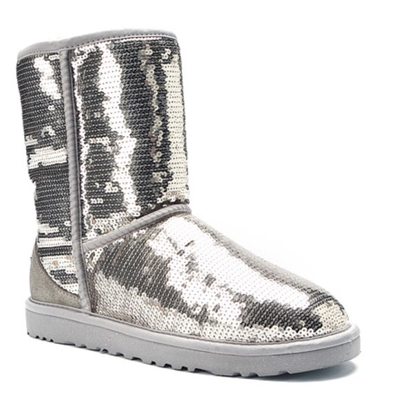 black and silver sequin uggs